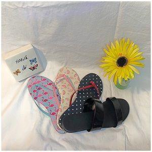 LC Lauren Conrad. Thong sandals, two strap flats.